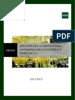 APUNTES Antropología Cognitiva y Simbólica I