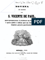 Novena en Honor de S Vicente de Paul Par