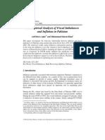 Empirical Analysis of Fiscal Imbalances and Inflation in Pakistan