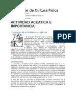 Actividad Acuatica e Importancia