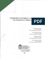Geometria Vectorial y Analitica, Una Introducción Al Algebra Lineal - Unal