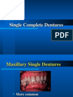 20. Single Complete Denture