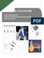 Biocompatibility, FDA and ISO 10993