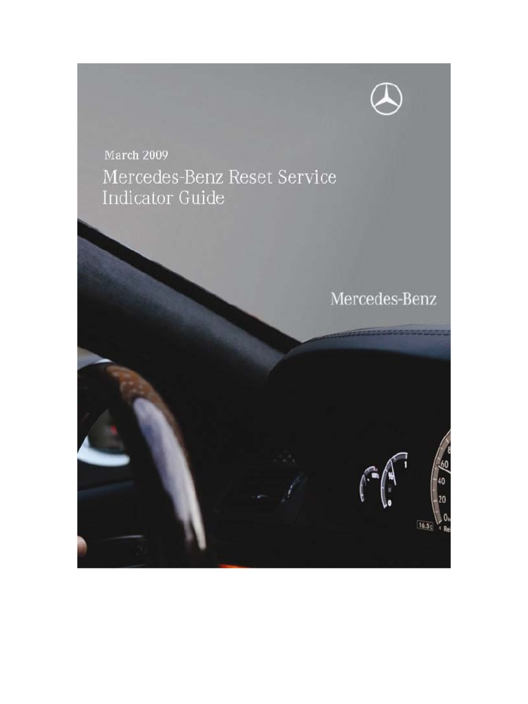 Reset Service Indicator All MB Models   Cars Of Germany   Luxury Vehicles