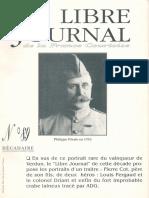 Libre Journal de la France Courtoise N°089