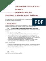Undergraduate Opportunities for Pakistani Students