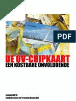 Onderzoek naar tarieven OV-chipkaart