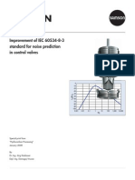 IEC-60534-8-3 Standard for Noise Prediction in Control Valves