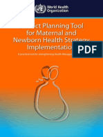 District Planning Tool for Maternal and Newborn Health Strategy Implementation