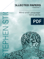 Collected Papers Volume 1 Mind and Language
