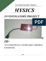 Physics Investigatory project class 12