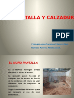 Muro Panatalla y Calzadura