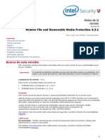 McAfee File and Removable Media Protection (FRP) 4.3.1 - Release Notes - ES.pdf