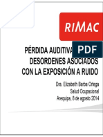 2 Perdida Auditiva y Otros Desordenes Asociados Con La Exposicion a Ruido Aqpa 080814