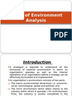 Steps of Environment Analysis