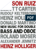 Double Bass and Oboe Music - Carter, e.