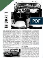 Triumph TR4 - Automobil Heft 16 - 1962