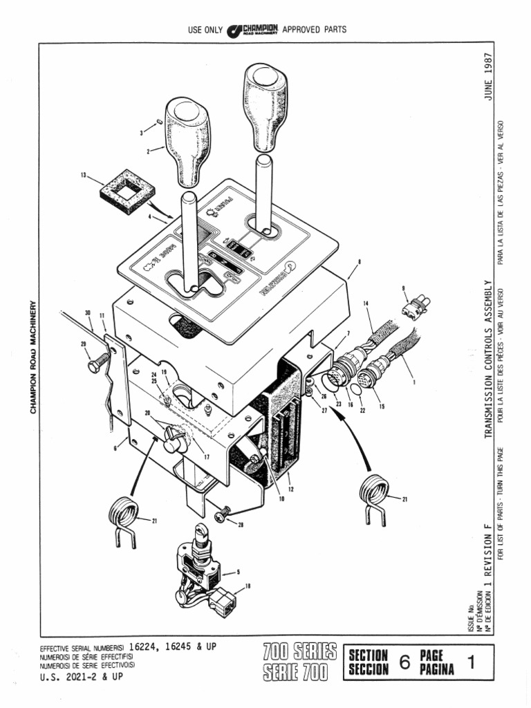 motoniveladora champion section 6 transmission model 8400 pdf rh scribd com