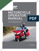 MOTORCYCLE OPERATOR MANUAL