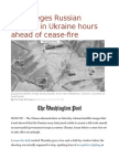 U.S. Alleges Russian Fighting in Ukraine Hours Ahead of Cease-fire