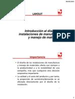 Introducción Al Diseño Instalaciones de Manufactura y Manejo de Materiales