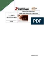 Tipo d Examen Sustitutorio Formulacion y Evaluacion de Proyectos 6-7