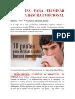 10 Pautas Para Eliminar Nuestra Basura Emocional