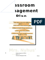 BNyhus Classroom Management Plan