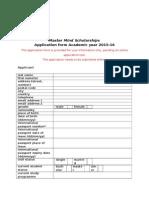 Application Form_Master Mind Scholarships_2015-2016