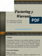 Adm. Financiera - Factoring y Warrant