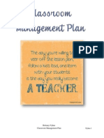 BNyhus Classroom Management Plan