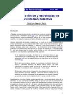 Discurso Étnico y Técnicas de Movilización Colectiva. María Isabel Jociles Rubio