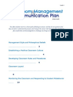 Classroom Management and Communication Plan - Linde