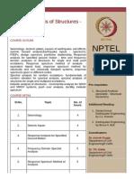 Nptel Syllabus_seismis Analysis of Structures