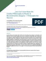 Applying Bruce Lee's Jeet Kune Do Combat Philosophy in Plastic & Reconstructive Surgery—7 Principles for Success by Lee Seng Khoo & Vasco Senna-Fernandes