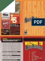 GTA San Andreas Game Manual PS2