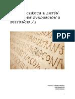 Segunda Prueba Evaluación Continua Latín 2015-2