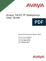 Avaya 1140e User Guide