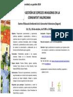 Gestión Especies Invasoras de La Comunitat Valenciana
