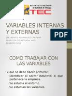 Variables Internas y Externas