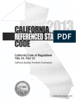2013 California Referenced Standards Code