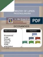 Chemistry of Lipids Prostaglandins