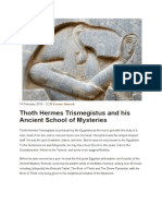 Thoth Hermes Trismegistus and His Ancient School of Mysteries