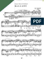 Chopin Frederic Ballade g Minor Other Version 3344