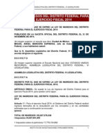 Ley de Ingresos del Distrito Federal 2014