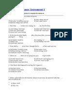 GRAMMAR ASSESSMENT .doc
