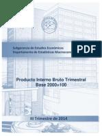 Pib III Trimestre 2014