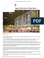 Minor Software Glitch Triggers Flight Delays at Changi Airport, TNP 30Nov2013