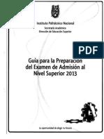 IPN Guía de Estudio Para Nivel Superior