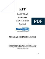 "Manual de InstalaÁ""o Do KIT Bass Trap"